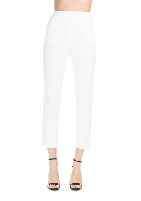 WHITE ALLAGATO TROUSERS PINKO | Pants | ALLAGATO1G14597388Z10