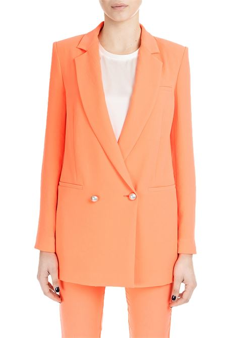ORANGE FLUO DOUBLE-BREASTED JACKET GOLDIE 3 PINKO | Jackets | GOLDIE3 1B13V87438B26