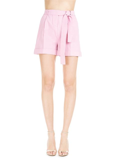IRMA PINK SHORTS IN LINEN CANVAS AND VISCOUS  PINKO | Shorts | IRMA1 1B13SC7435O79