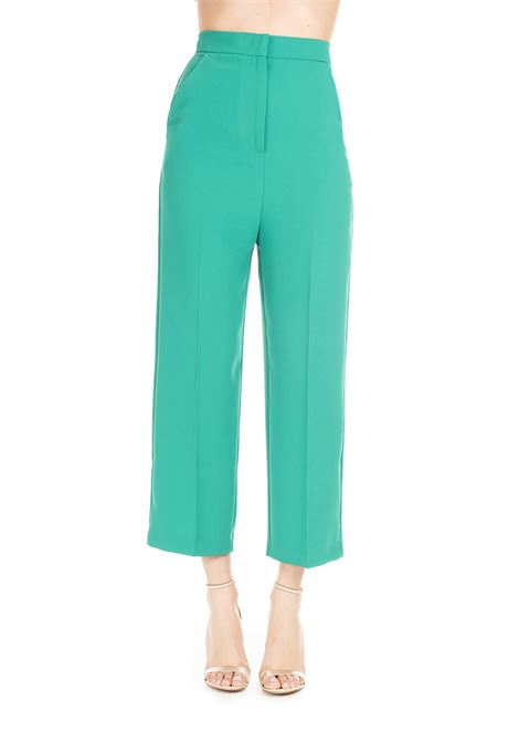 GREEN PALAZZO TROUSERS LILIANA