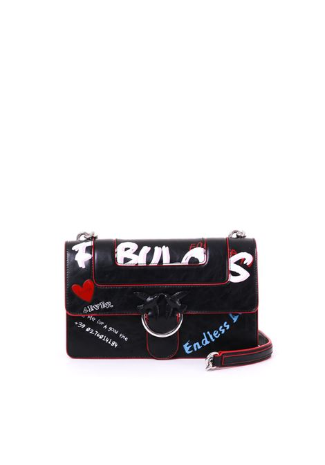 LOVE BAG FABULOUS IN PELLE STAMPA GRAFFITI PINKO | Borse | LOVE1P21BTY5F9Z99