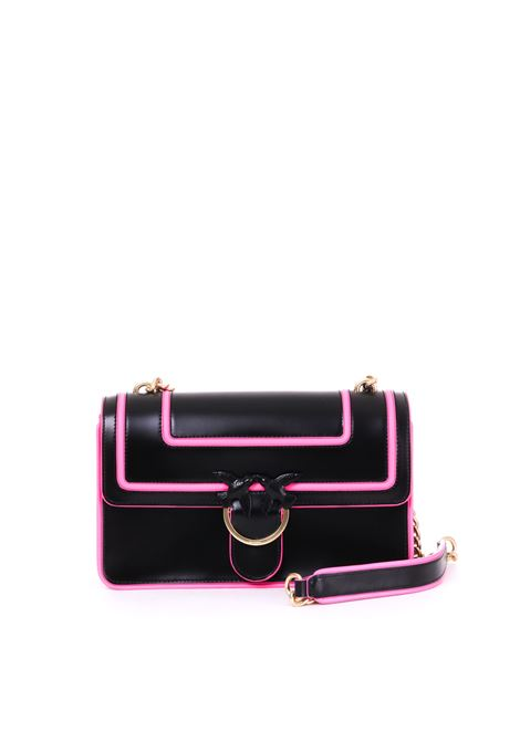 LOVE BAG FLUO BICOLOR IN LEATHER WITH INLAYS PINKO | Bag | LOVEFLUO1P21AGY5F1ZWE