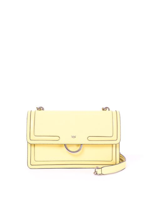 YELLOW LOVE BAG NEW IN CAVIAR LEATHER WITH INLAYS PINKO | Bag | LOVENEW1P21A6Y5F4H01