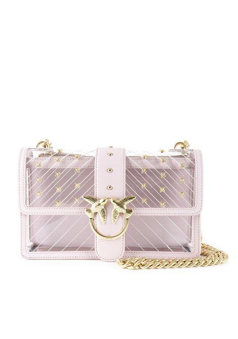 MINI LOVE BAG PLASTIC PINK TRANSPARENT PVC PINKO | Bag | LOVEPLASTIC1P21AHY5EZP07