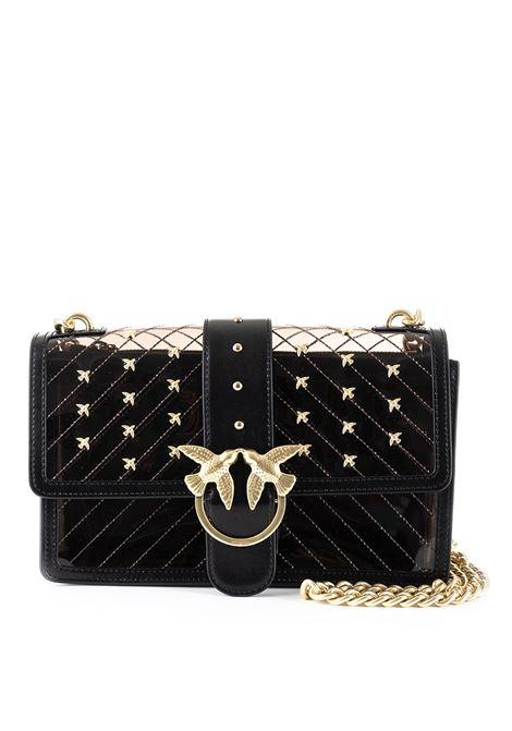 MINI LOVE BAG PLASTIC BLACK TRANSPARENT PVC PINKO | Bag | LOVEPLASTIC1P21AHY5EZZ99