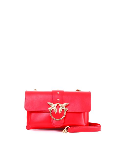 MINI LOVE BAG SOFT SIMPLY ROSSA IN PELLE PINKO | Borse | MINILOVE1P21AZY5EUR24