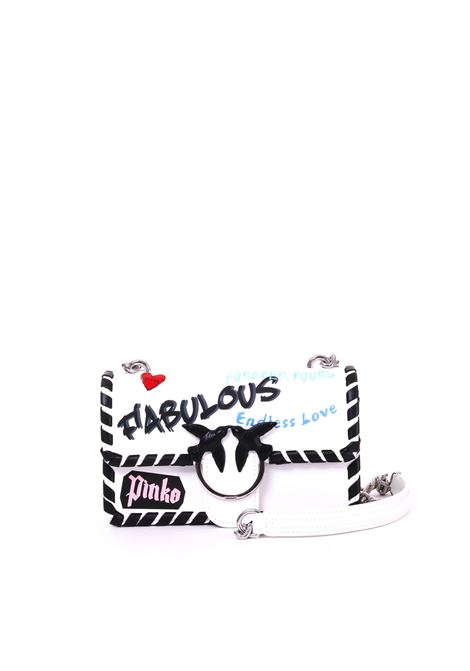 MINI LOVE BAG FABULOUS IN PELLE STAMPA GRAFFITI PINKO | Borse | MINILOVE1P21BSY5F9I09