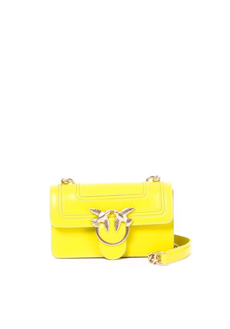MINI LOVE FLUO BAG GIALLA IN PELLE PINKO | Borse | MINILOVEFLUO1P21AFY5F1H72