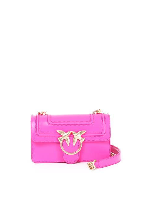MINI LOVE FLUO BAG ROSA IN PELLE PINKO | Borse | MINILOVEFLUO1P21AFY5F1Q44
