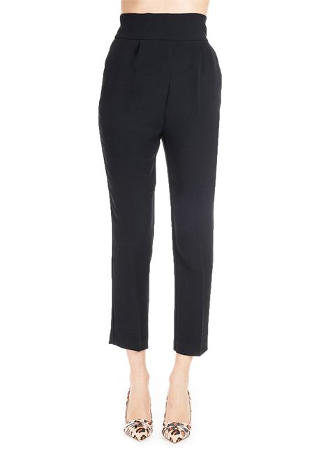 BLACK CROPPED TROUSERS NATALIA PINKO | Pants | NATALIA1B13QP7438Z99
