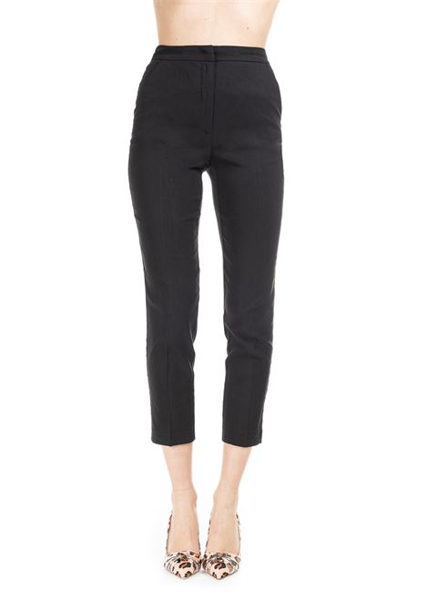 CROP NUCCIA TROUSERS - BLACK PINKO | Pants | NUCCIA1B13QY7435Z99