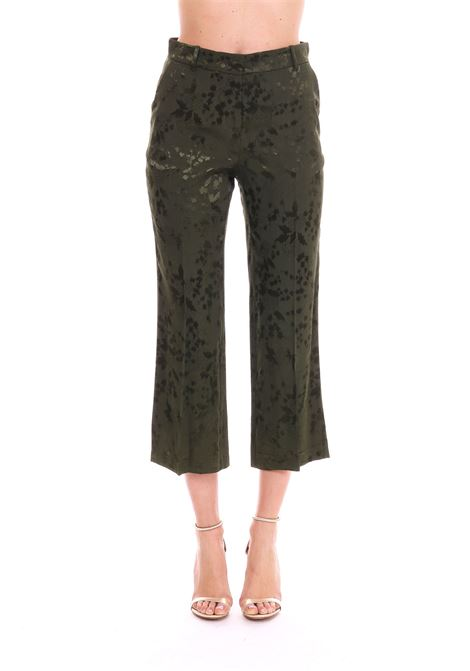 SHELLY PANTS IN GREEN FLUID JAQUARD  PINKO | Pants | SHELLY1 1G143M7376X14
