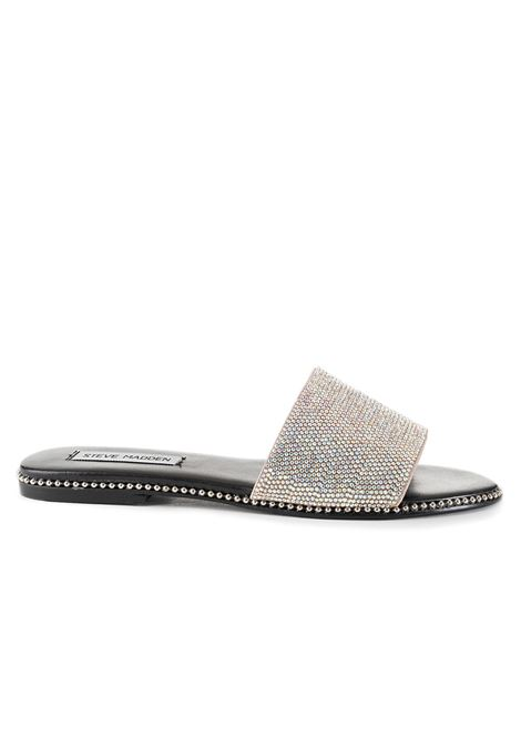 SATISFY SLIPPER WITH RHINESTONES  STEVE MADDEN | Sandals | SMSSARISFY-RHIARGENTO