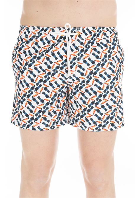 TOUCAN PRINT SWIM SHORT  SUNDEK | Swimsuits | M504BDP01MU006