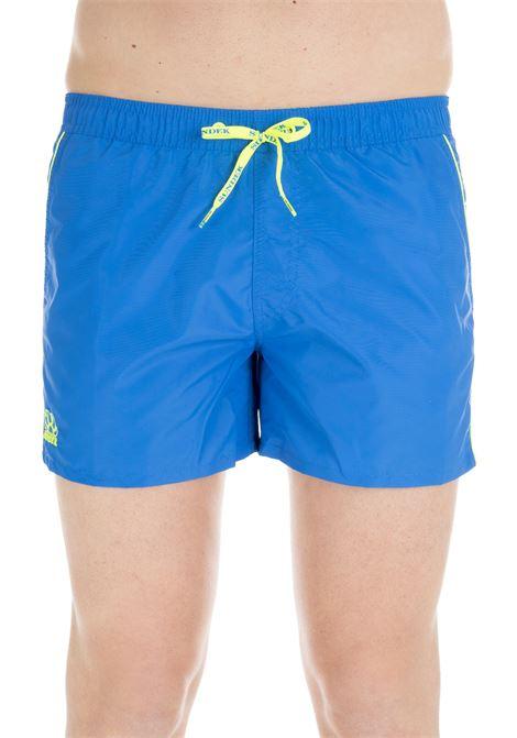 SHORTS BLUE NYLON SWIM SHORT SUNDEK | Swimsuits | M700BDTA100001