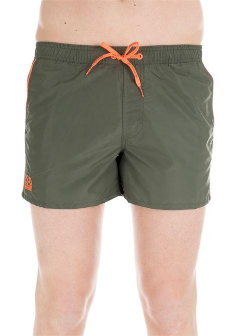 SHORT ARMY GREEN NYLON SWIM SHORTS SUNDEK | Swimsuits | M700BDTA100302