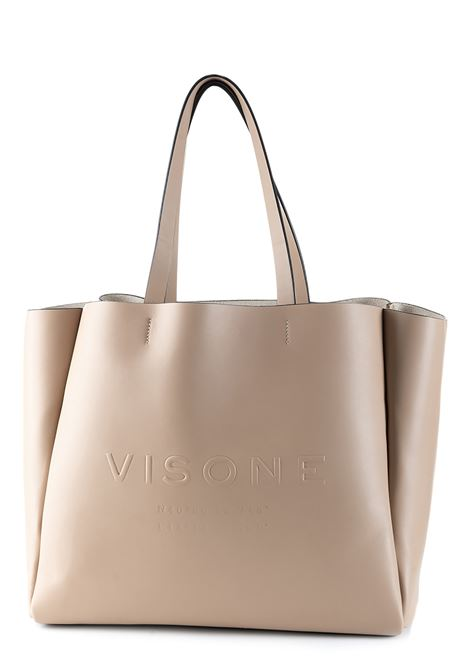 AMANDA BIG SHOPPING BAG IN BEIGE LEATHER VISONE | Bags | AMANDABEIGE