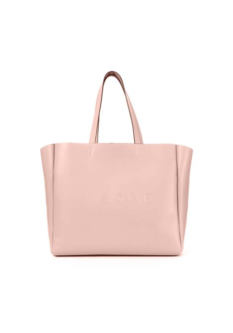 AMANDA SHOPPING BAG IN PINK LEATHER VISONE | Bags | AMANDASMALLROSA