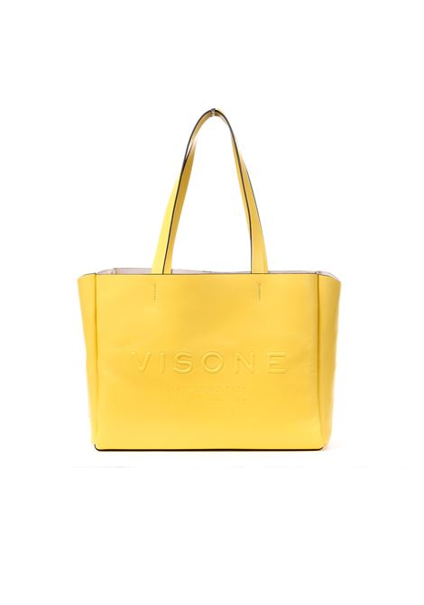 AMANDA SHOPPING BAG IN YELLOW LEATHER VISONE | Bags | AMANDASMALLYELLOW