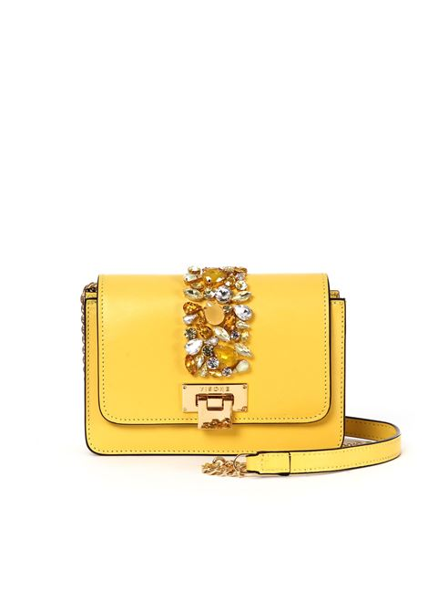 LIZZY YELLOW SHOULDER BAG WITH STONES VISONE | Bags | LIZZY PIETRE SMALLYELLOW