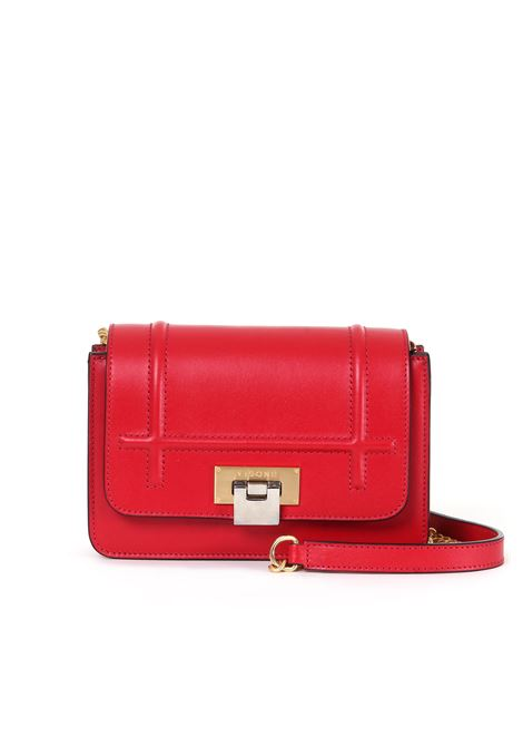 LIZZY SHOULDER BAG IN RED LEATHER VISONE | Bags | LIZZYSMALLRED