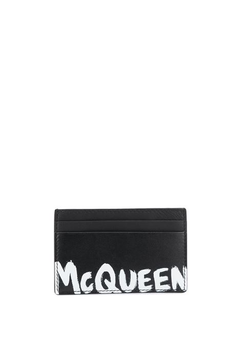 Portacarte nero ALEXANDER McQUEEN | PORTACARTE | 6021441NT7B1070