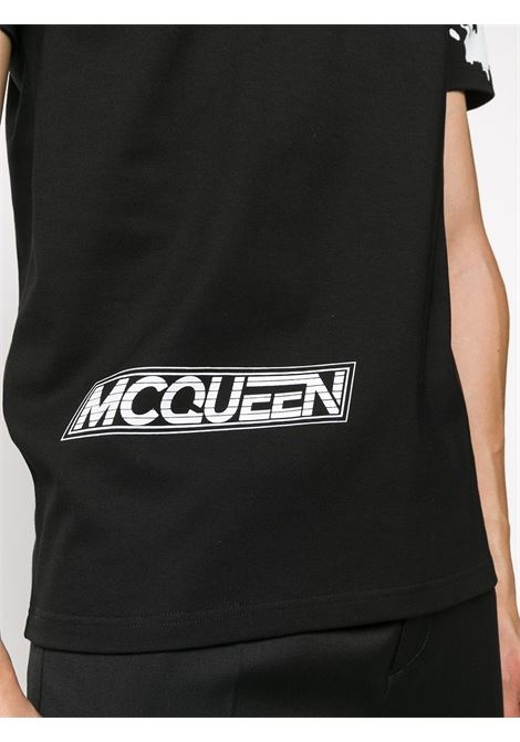 T-shirt nera ALEXANDER McQUEEN | T-SHIRT | 624181QPZ620901