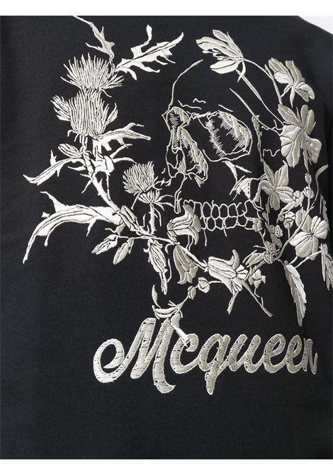 Felpa nera ALEXANDER McQUEEN | MAGLIE | 625355QPZ670901
