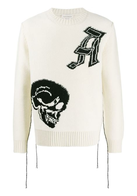 Pullover bianco ALEXANDER McQUEEN | PULLOVER | 626445Q1APA9213