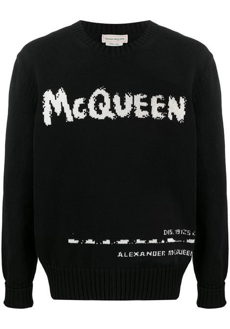 Maglione nero ALEXANDER McQUEEN | FELPE | 626454Q1WZL1006