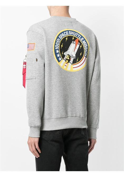 Grey sweatshirt ALPHA INDUSTRIES | SWEATSHIRTS | 17830717