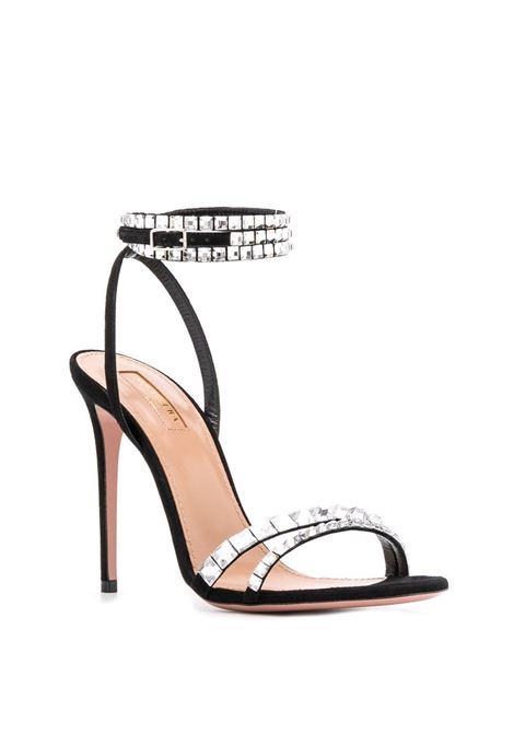Sandalo nero AQUAZZURA | SANDALI | SOVHIGS0SUE000