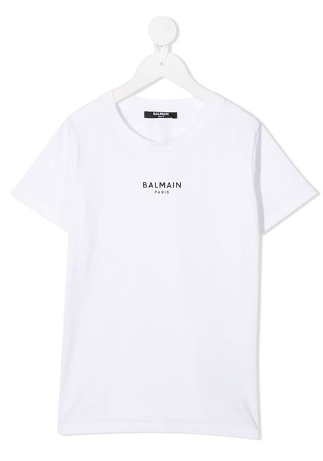 Maglia bianca BALMAIN | T-SHIRT | 6N8541NX310100NE
