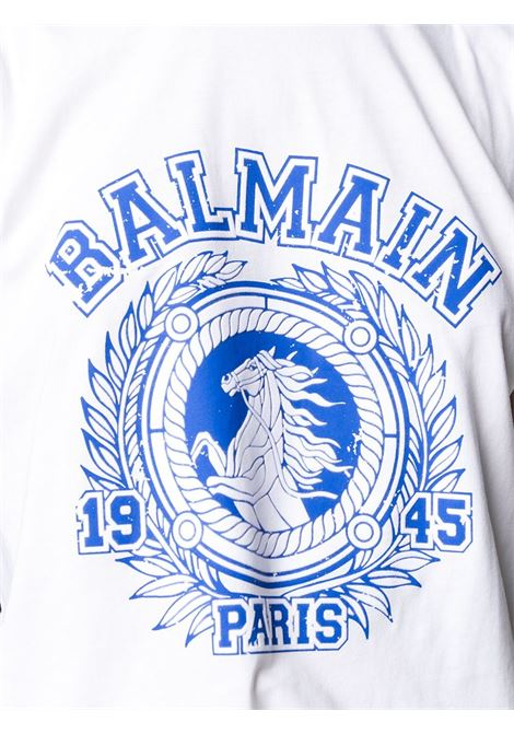 Maglia bianca BALMAIN | T-SHIRT | UF01351I589GCM
