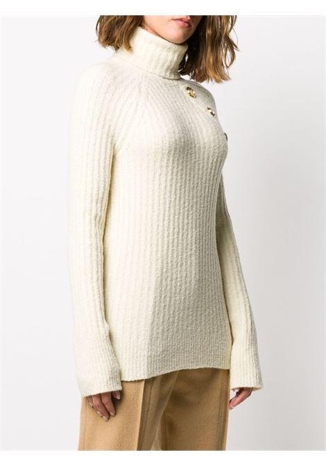 Maglione bianco BALMAIN | MAGLIONE | UF03248K2000KA