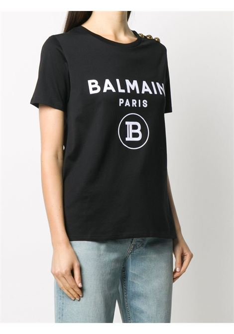 T-shirt nera BALMAIN | T-SHIRT | UF11350I386EAB