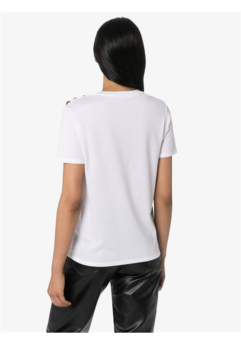 T-shirt bianca BALMAIN | T-SHIRT | UF11350I386GAB