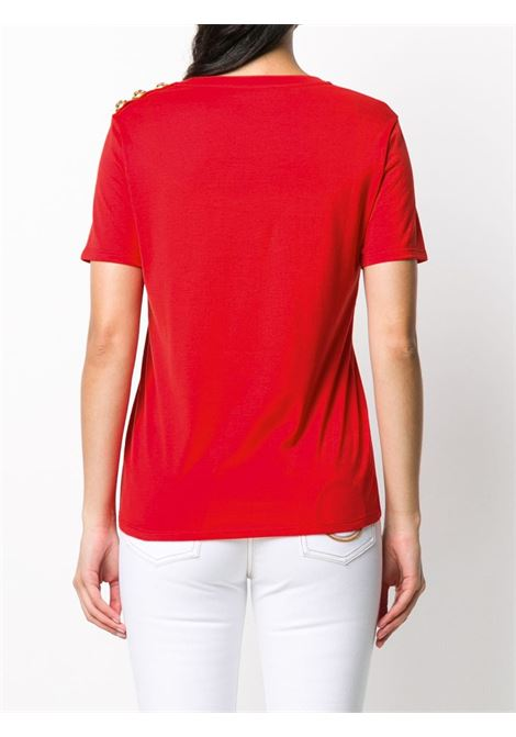 Red t-shirt BALMAIN |  | UF11350I386MAB