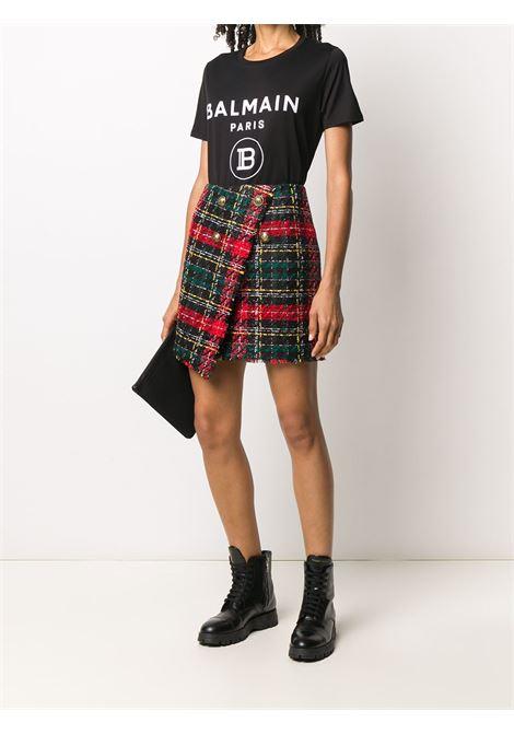 T-shirt nera BALMAIN | T-SHIRT | UF11350I551EAB