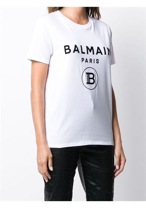 T-shirt bianca BALMAIN | T-SHIRT | UF11350I551GAB