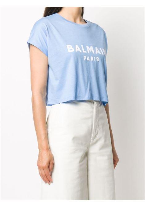 T-shirt blu BALMAIN | T-SHIRT | UF11357I321SCQ