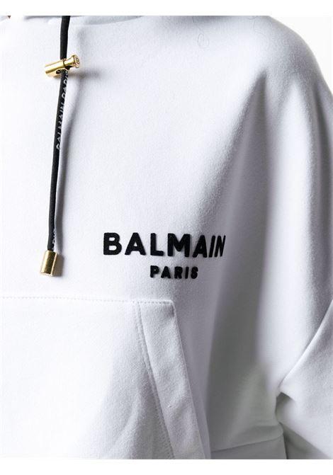 Felpa bianca BALMAIN | FELPE | UF13792I383GAB