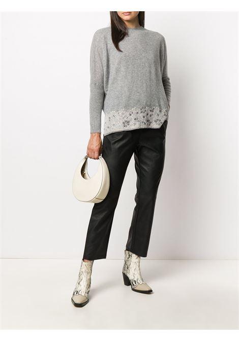 Maglione grigio BLUMARINE | MAGLIE | 238401808