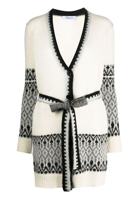 Cardigan bianco / grigio / nero BLUMARINE | MAGLIE | 238452676