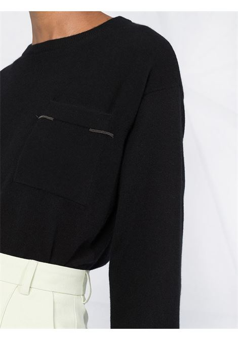 Black jumper BRUNELLO CUCINELLI | JERSEYS | M12171100C101