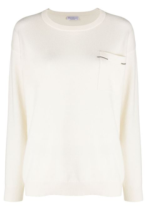 White jumper BRUNELLO CUCINELLI | JERSEYS | M12171100C159
