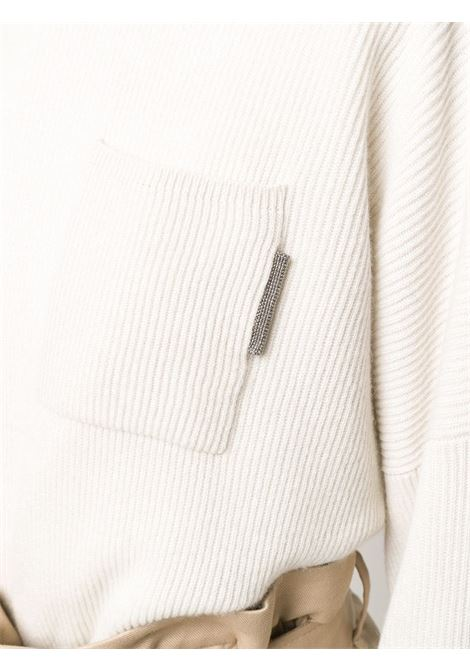 White jumper BRUNELLO CUCINELLI | JERSEYS | M12178300CH498