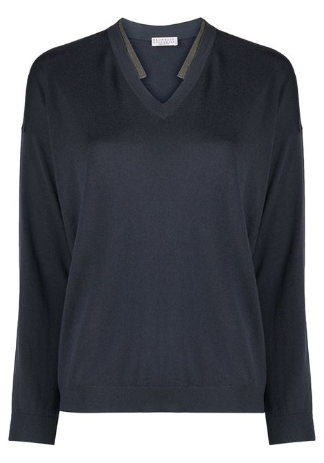 Blue jumper BRUNELLO CUCINELLI | JERSEYS | M14817902C7186