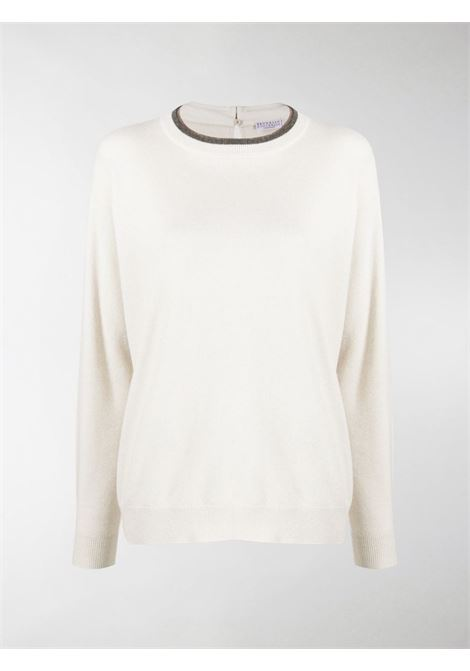 White jumper BRUNELLO CUCINELLI | JERSEYS | M16172500CP054