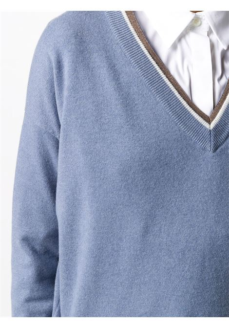 Blue jumper BRUNELLO CUCINELLI | JERSEYS | M16172502CF784